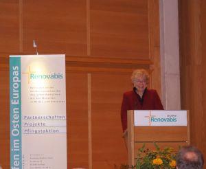 Frau Prof. Dr. Gesine Schwan während ihrer Festansprache. Foto: Josef Bordat.