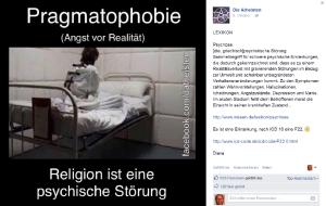 Neues, zugleich weitverbreitetes Krankheitsbild: Pragmatophobie.